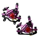 NYK Zoom - Pinzas de freno de disco hidráulico para bicicleta de montaña delantera y trasera (morado)