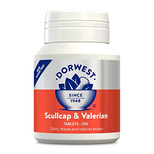 Dorwest Herbs Scullcap and Valerian Tablets for Dogs and Cats 100 Tablets