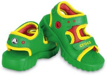 Crocs Toddler/Little Kid Otter Sandal,Lime/Pulse,12-13 M US Little Kid