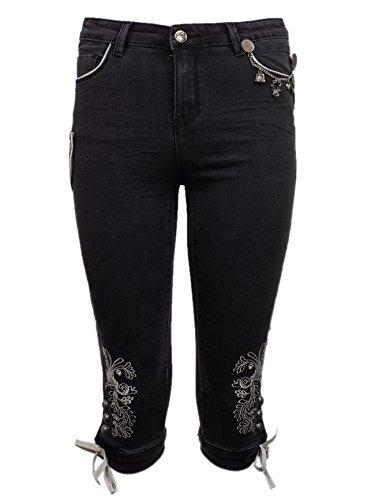 MarJo Jeans Dakota Afra Damen schwarz Trachtenjeans Stretch (schwarz, 44)