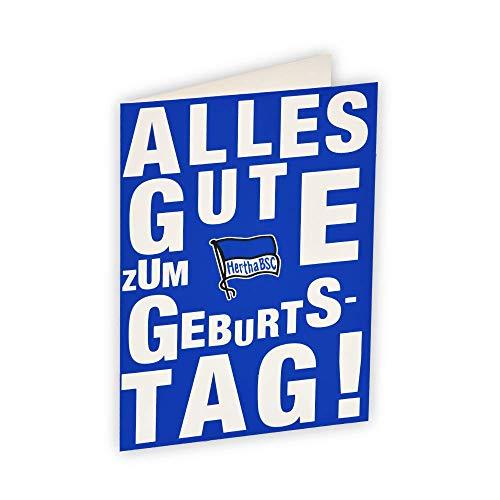 Hertha BSC Grußkarte Geburtstag