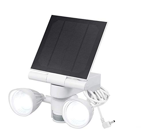 Wasserstein Ring Floodlight & Solar Panel Charger, Motion-Activated, Compatible with Ring Stick Up Cam & Ring Spotlight Cam Only (1-Pack, White)