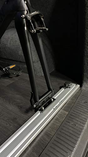 Bike Fork Mount with x4 removable fittings for road, gravel and mountain bike fitment; 5x100 quick release, 12x100, 15x100 & 15x110 thru axle fitments.