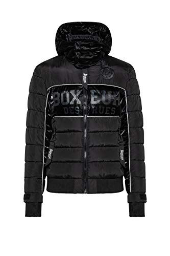 BOXEUR DES RUES - Padded Shiny Jacket with Detchable Hood, Uomo, L
