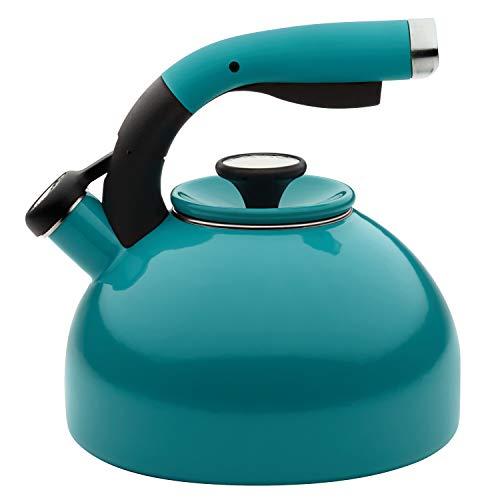 Circulon Morning Bird Whistling Kettle/Stovetop Teakettle/Tea Pot, 2 Quart, Capri Turquoise