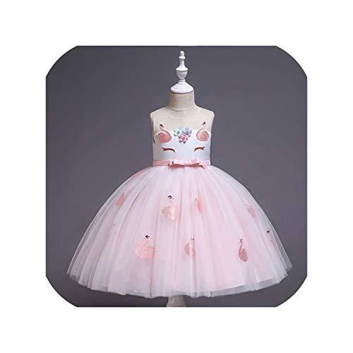 Vestido de novia con tutú de arcoíris para niña o dama de honor, para niños, princesa, carnaval, vestido de fiesta