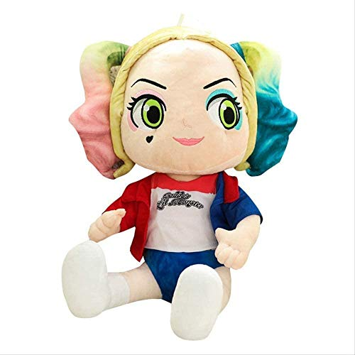 N-R Cartoon Anime Suicide Squad Qposket Harley Quinn Plush Toy 45cm Cotton Soft Little Girl Doll Cute Toy for Baby Girls