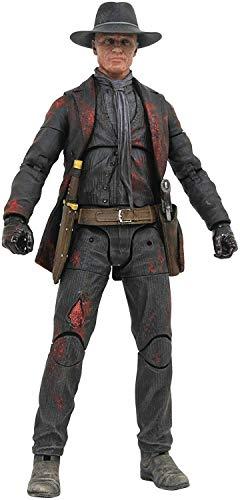 DIAMOND SELECT TOYS Westworld: The Man in Black Battle-Damaged Action Figure, Multicolor