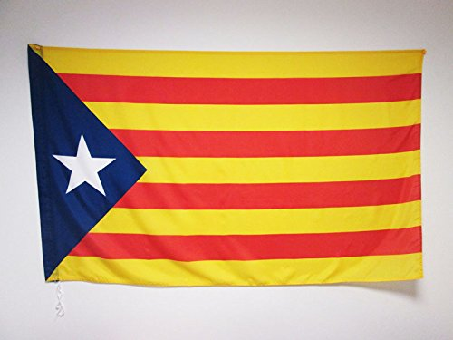 AZ FLAG Flagge KATALONIEN ESTELADA BLAVA 150x90cm - AUTONOMEN KATALANISCHEN Fahne 90 x 150 cm Scheide für Mast - flaggen Top Qualität