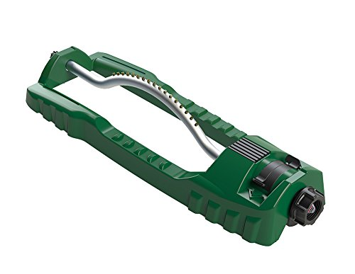Orbit 56761 Oscillating Sprinkler with Stable Base and Custom Pattern Dial, Waters up to 3600 Sq Ft