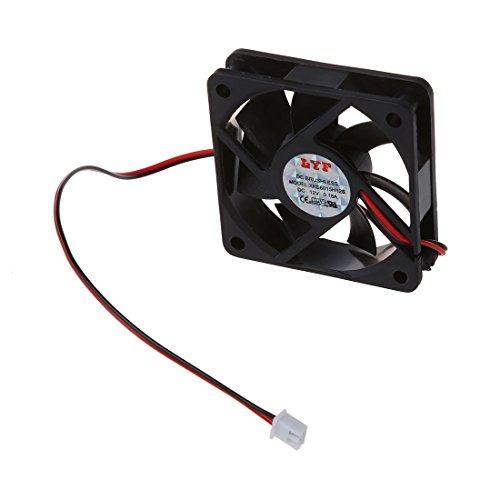 Bestlymood - Ventilador de refrigeración (12 V, 2 pines, 60 mm x 15 mm)