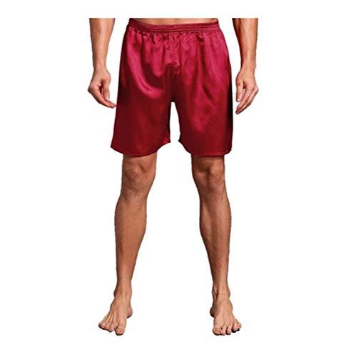 YUNGYE Neue Männer Satin-Sommer-Neue Shorts Pyjamas Pyjamas Male beiläufige Lounge Kurze Hosen Loser weicher Schlaf Bottoms M L XL 2XL (Color : 4, Size : XXXL)