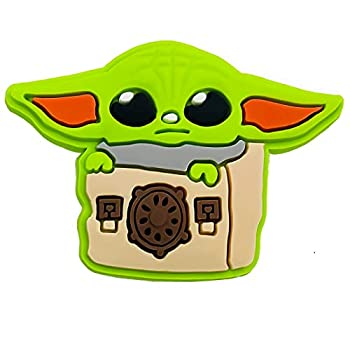 Baby Yoda Croc Charms 4 Pack Star Wars Croc Charms Mandalorian Gibbets Shoe Charms for Crocs Clog Sandals Bracelet Decoration Accessories Cute Jibits for Kids Teens Adults Party Favors Birthday Gift