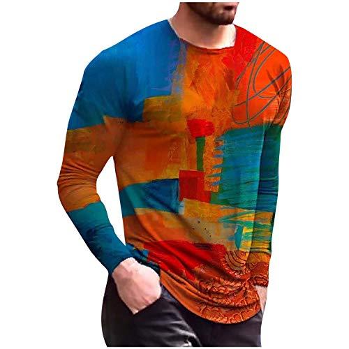 Camiseta de verano para hombre, corte ajustado, moda informal, ropa de calle divertida, estampada, manga corta, cuello redondo. multicolor XXL