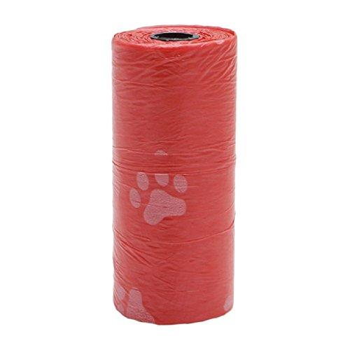 Yunso Hundekotbeutel, biologisch abbaubare, parfümierte, tropfsichere Hundetüten (10pcs, Rot)