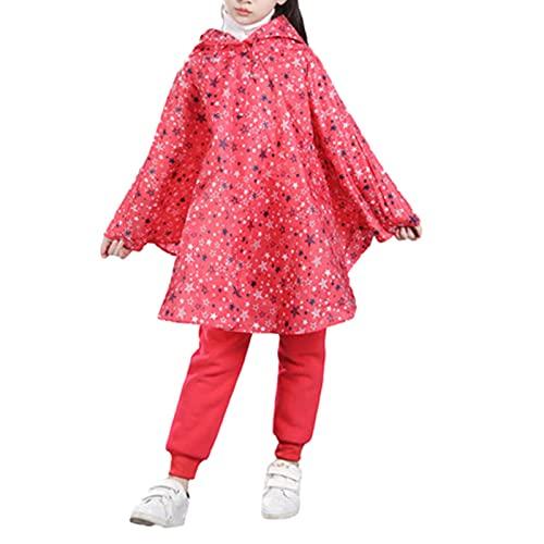 YQSR Chaqueta de lluvia infantil con capucha y botones impermeable ligera de 1 a 5 años
