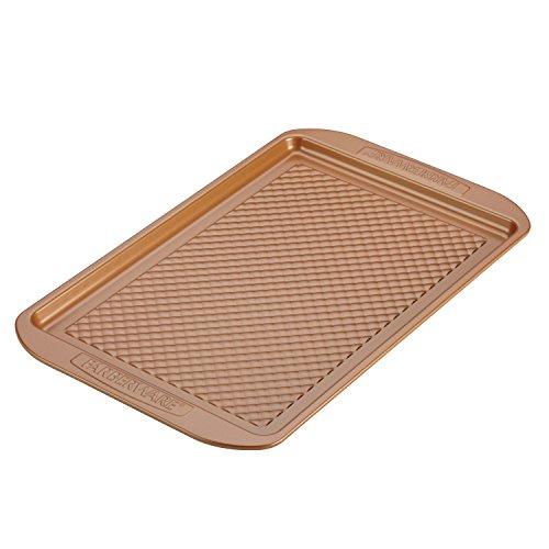 Farberware 47139 Colorvive Nonstick Baking Sheet / Cookie Sheet / Cookie Pan - 11 Inch x 17 Inch, Brown