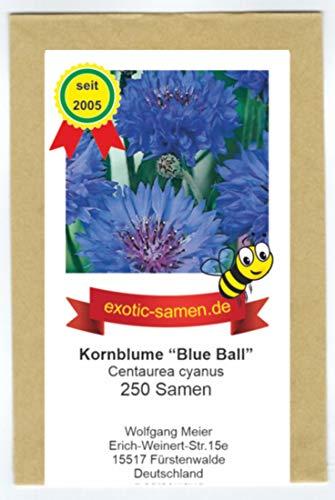"""Centaurea cyanus - Bienenweide - Blaue Kornblume\""""Blue Ball\"""" - 250 Samen"""