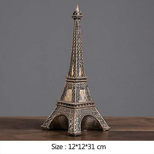 ZAQWSXCDE Tier Skulptur Dekofigur Empire State Building Freiheitsstatue Paris Tower Miniaturmodell Kunsthandwerk Harz Home Dekoration Geschenke