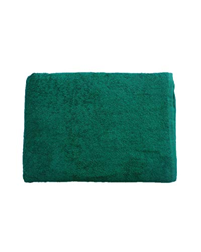 Manuel Gonçalves Carvalho Toalla Manta Verde Oscuro 150x200cm, 100% algodón, 460gr/m2, Fabricada en CEE.