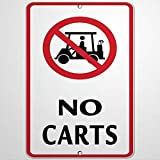 Señal de advertencia de carritos con actividad gráfica, señal de G-olf, señal de advertencia de carretera, 20,3 x 30,5 cm, señal de aluminio y metal para exteriores