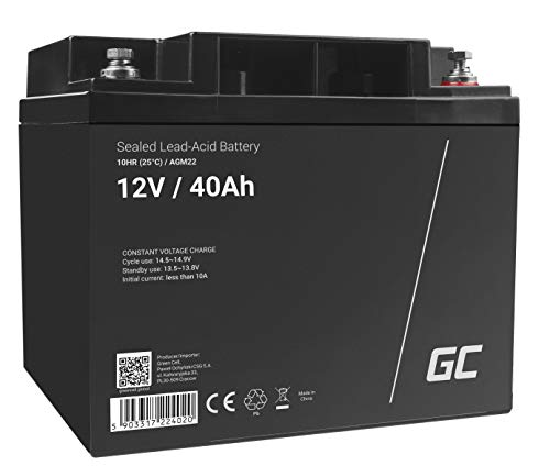 Green Cell® AGM 12V 40Ah Akku VRLA Blei-Batterie Bleiakku Ersatzakku...