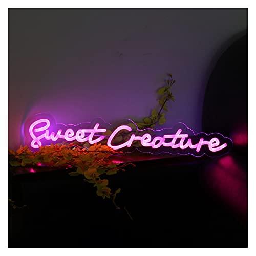 Letrero de neón de boda flexible impermeable personalizado Sweet Creature, hecho a mano con neón regulable para el logotipo de la tienda Club Nightclub Game Room Decoración de la pared