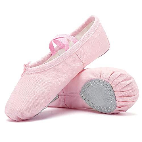 Niñas Ballet Zapatos Transpirable Zapatos de Ballet Zapatillas de Ballet de Danza Baile Princess Girls Zapatos (32 EU, Rosa)