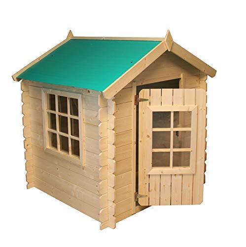Hoggar by Okoru Casita Infantil de Madera Gretel 1.10m2 - 105x105x121cm. Casa para niños de Jardin