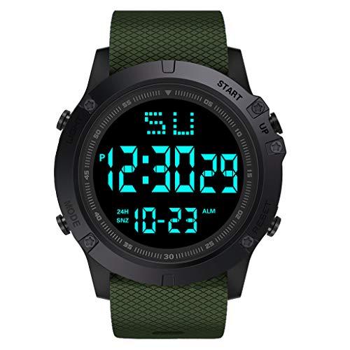 Herren Digitale Armbanduhr Kolylong Männer Outdoor wasserdichte Militärische Uhren Outdoor Sportuhr mit Wecker/Timer/LED Hintergrundbeleuchtung