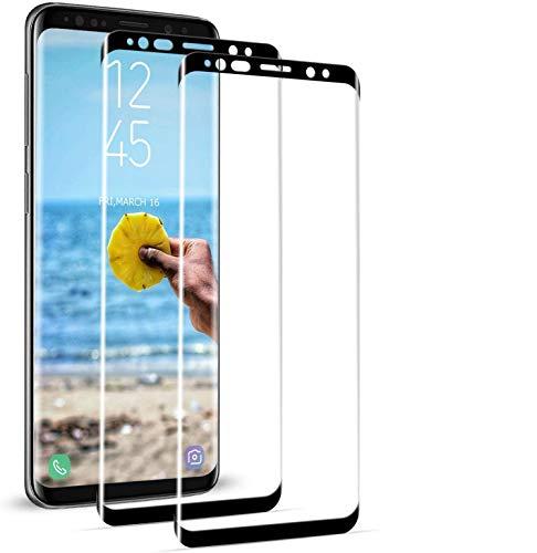 BOBI Cristal Templado para Samsung Galaxy S8 Plus,Cubierta Completa Vidrio Templado 9H...