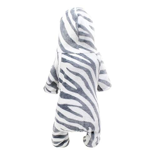 YueLove Hundekleidung Kapuzenpullover,Plüsch Zebra Hundemantel Hundejacke Hundepullover Hoodie Warm Winter Mantel Kostüm Sweatshirt Haustier Kleidung für Kleine Hunde, Welpen, Teddy, Pudel