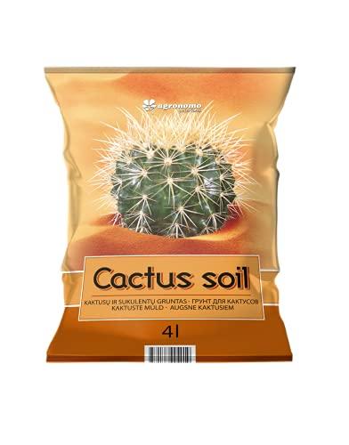 Agronomo | Fondo per cactus e sfere | Fondo organico | Terriccio di cactus e piante grasse | Terriccio per piante | Terriccio per coltivazione | Confezione da 4 L