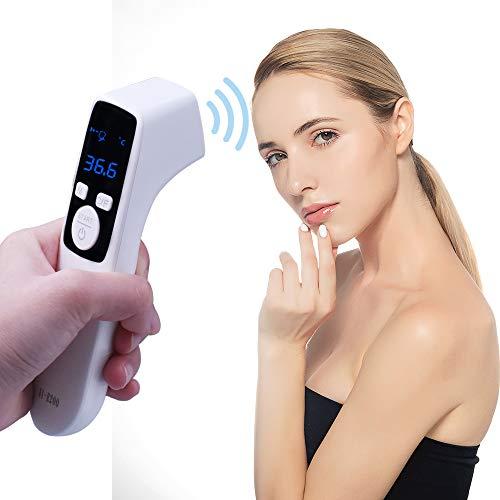 Termómetro de frente digital infrarrojo para fiebre para bebés, niños, adultos, uso interior y…