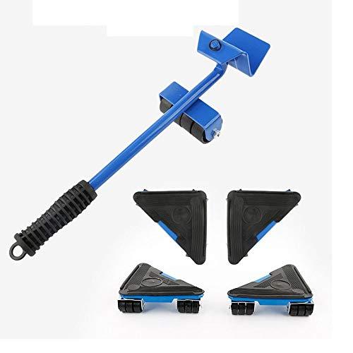 genneric Möbel Umzug Artifact - Heavy-Duty Universal-Flaschenzug - Moving Roller Set-Haushaltsklein Werkzeuge 5 Stück (Upgraded Load Bearing 500kg)