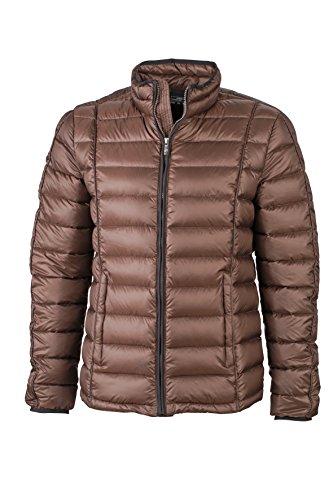 James & Nicholson Herren Jacke Jacke Men's Quilted Jacket braun (Coffee/Black) X-Large