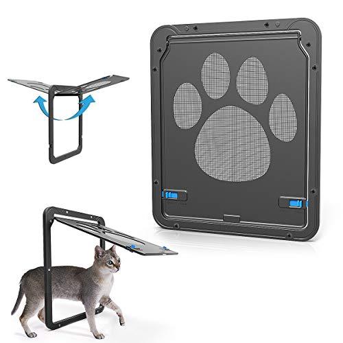 PETLESO Katzenklappe Hundeklappen Katzentür für kleinen Hund 26 x 20.5 cm Hundetür Einfache Installation Katzenklappe für Fliegengittertüren