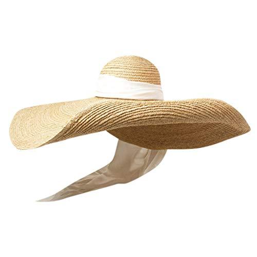 Brillanto Sombrero Paja Mujer Verano Talla 62 Sombrero Pesca del ...