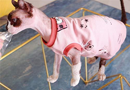 ZHIHAN Sphinx Katze Kleidung Sommer atmungsaktive dünne Weste haarlose Katze ärmelloses T-Shirt, Farbe 1, XXL