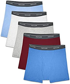 5-Pack Fruit of the Loom Boys' Assorted Print Boxer Briefs (Small)