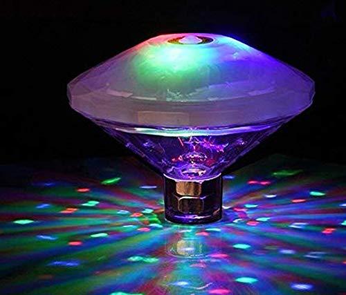 Buntes Unterwasser Licht, Diamant Pool-Licht, Wasserdichte LED Poolbeleuchtung, Teich-LED-Licht für Badewanne Party-Events Home Vase Schwimmbad Teich Dekoration Beleuchtung(2 Stück)