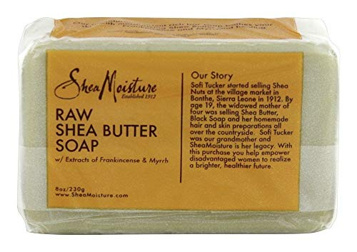 Sheamoisture Face and Body Bar Soap for Dry Skin with Raw Shea Butter Paraben Free 8 oz