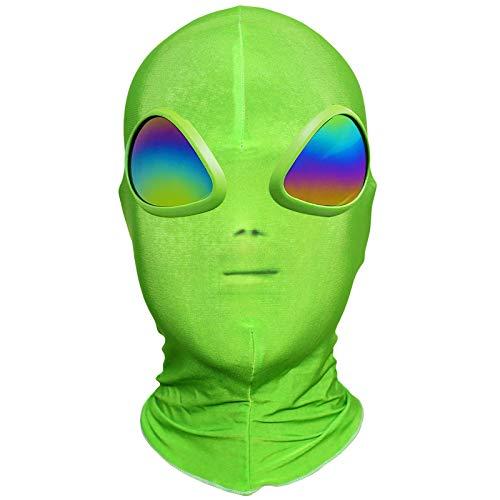 anroog Halloween Alien Mask for ET Alien Cosplay Costume Halloween Party,Alien 3D Full Face Mask for Adults