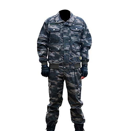 YJKJ Chaqueta De Trabajo, Soldador Soldadura Chaqueta, Elasticidad Resistente A Rayones Resistente A Las Manchas Resistente Al Desgaste,L