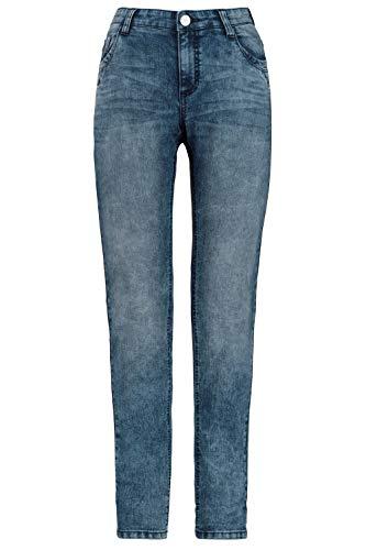 GINA LAURA Damen Jeans Julia, hellgewaschen, schmale Form Blue Denim 42 724886 92-42