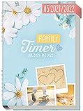 Family-Timer 2021/2022 A5 [Good Times] Der Familien-Kalender! 18 Monate: Juli 21 bis Dezember 22 | Familien-Planer für bis zu 4 Personen + viele hilfreiche Features | nachhaltig & klimaneutral