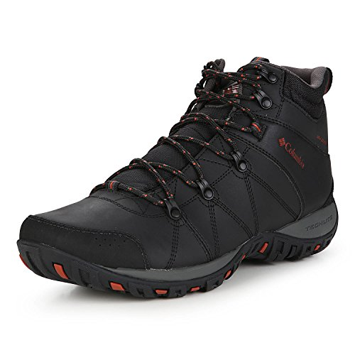 Columbia Peakfreak Venture Mid Waterproof Omni-Heat Zapatos Para Hombre , Negro(Black, Sanguine), 42 EU