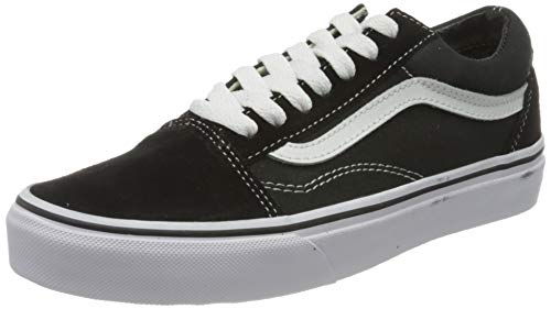 Vans Unisex Old Skool Classic Skate Shoes (5.5 US Women / 4 US Men), Black