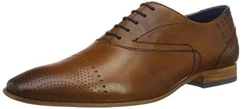 Daniel Hechter 811112051100, Chaussures Derby Homme - Marron - Marron (Cognac), 42 EU