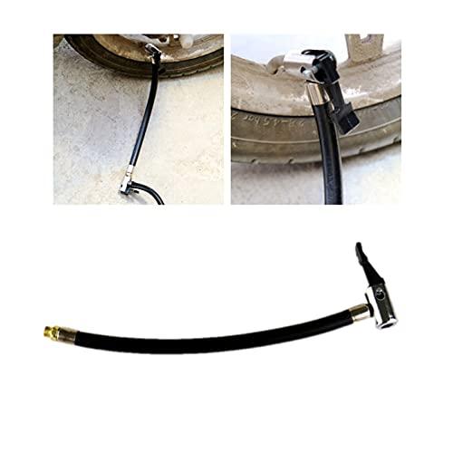LIUWEI 2pcs Reemplazo de la Bomba de Aire Extensión de la Manguera de Goma Cable del Tubo del Tubo del inflador (Negro) (Color : Black)